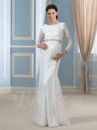pregnancy wedding dresses 3 4 length sleeve lace trumpet mermaid wedding dress