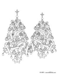 christmas trees coloring pages hellokids