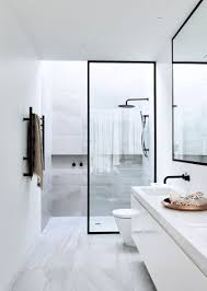 Contemporary Small Bathroom Ideas Bathroom Design Idea Black Shower Frames Black Shower