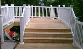 rbm enterprises new deck with a vinyl railing