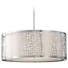 Fabric Drum Pendant Lights Chandeliers Design Amazing Modern Chandelier