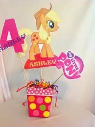 My Little Pony Party Centerpieces by Giggle Bean My Little Pony Party Ideas