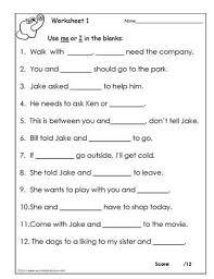 i or me worksheetsworksheets