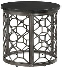 granite top end tables round end table with granite top by standard furniture wolf and