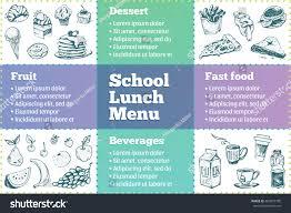 lunch menu sketch icons dessert stock vector 466873790