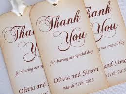 wedding tags for favors personalized wedding favor gift tags set of 6 thank you tags