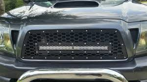 tacoma grill light bar db customz 2005 2011 tacoma grille insert for 20 led light bar