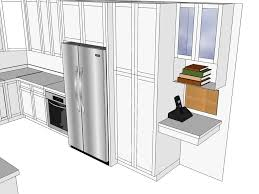 blueprint black and white wood furniture cabinets 3d kitchen