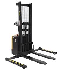vestil stackers with powered drive and powered lift