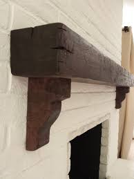 distressed beam mantel with corbels by themantelguy com call for