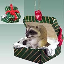 raccoon gift box ornament delightful