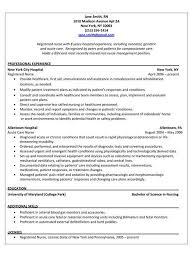 sle nursing resume resume registered exles