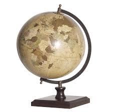 antique world globe sculpture mulberry moon