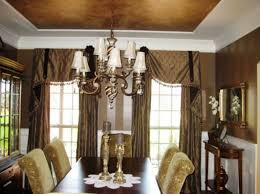 Drapes For Dining Room Dining Room Blue Curtains The Art Of Designing Dining Room With