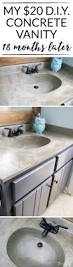 How To Make A Concrete Sink For Bathroom How U0027s It Holding Up Diy Concrete Vanity Update Designer Trapped