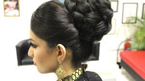 home bridal hair style pakistani dupatta setting tutorial