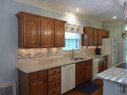 cozy countertop design with giallo ornamental granite oak