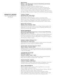 Sports Marketing Resume Examples by Art Director Resume Skills Contegri Com