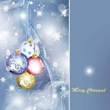 christmas background psd with christmas balls snowflakes and