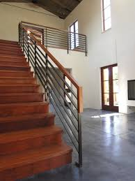 Contemporary Handrail Stair Handrail Staircase Contemporary With Concrete Concrete Floor