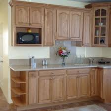 Kitchen Design Oak Cabinets by Awesome Oak Kitchen Cabinet Colored Along With Grey Marble Counter