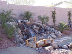 Desert Backyard Ideas Desert Backyard Landscaping Ideas I Like The Little Bridge