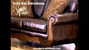 ashley furniture barcelona sofa barcelona sofa set signature design by ashley youtube