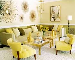 yellow and green living room style home design contemporary and