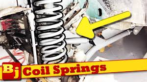 jeep cherokee cartoon how to install coil springs rough country youtube