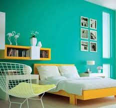 blue colour shades for bedroom interior painting