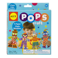 alex toys pops craft 4 paper chain monsters alexbrands com