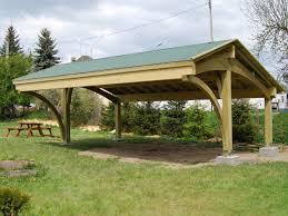 Gazebo En Bois Wooden Carport Revelatio Ecocurves