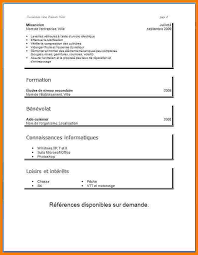 exemple cv cuisine exemple de cv en francais pour etudiant modele cv pour etudiant psco