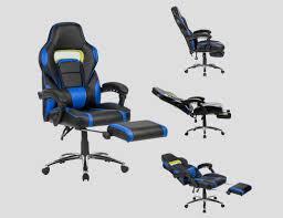 le de bureau sur pied fauteuille de bureau gamer avec repose pieds rembourré stoelenkopen