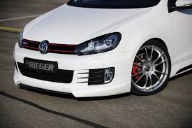 volkswagen parts rieger adds a few body parts to the volkswagen golf gti