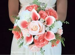 wedding flowers coral wedding flowers obniiis