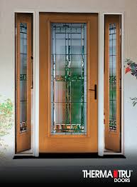 Vented Exterior Door Therma Tru Fiber Classic Oak Collection Fiberglass Door With