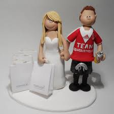 football cake toppers football denver broncos wedding cake topper and groom