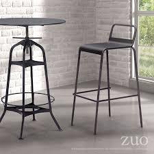 Zuo Modern Bar Table Spartan Bar Table Antique Black By Zuo Modern