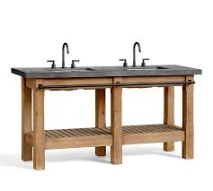 Bathroom Sink Console by Abbott Double Sink Console Pottery Barn