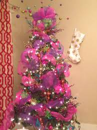 pink blue orange gold purple green red christmas tree