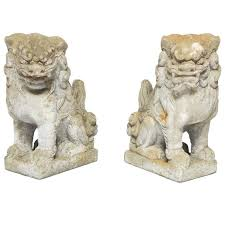 foo lions for sale pair of guardian foo lions at 1stdibs