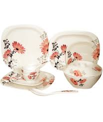 Silver Dinner Set Online Shopping India Lumineck White Grand Thai Series Melamine Dinner Set 40 Pcs Buy