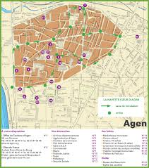 Rouen France Map by Agen Tourist Map