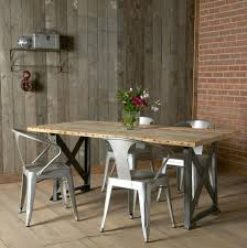 Ebay Furniture Dining Room by Wood And Metal Dining Table Rustic Iron Diningblack Chairs Room