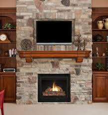 Textured Accent Wall Nice Brick Stone Wall Fireplace Designs With Wooden Fireplace