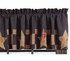 Valance And Curtains Country And Primitive Style Curtains