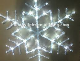 lighted snowflakes outdoor iron