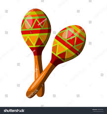 mexican maracas icon cartoon style isolated stock vector 529950346