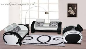 Leather White Sofa Italian Black And White 3 And 2seater Leather Sofa Id 5458647